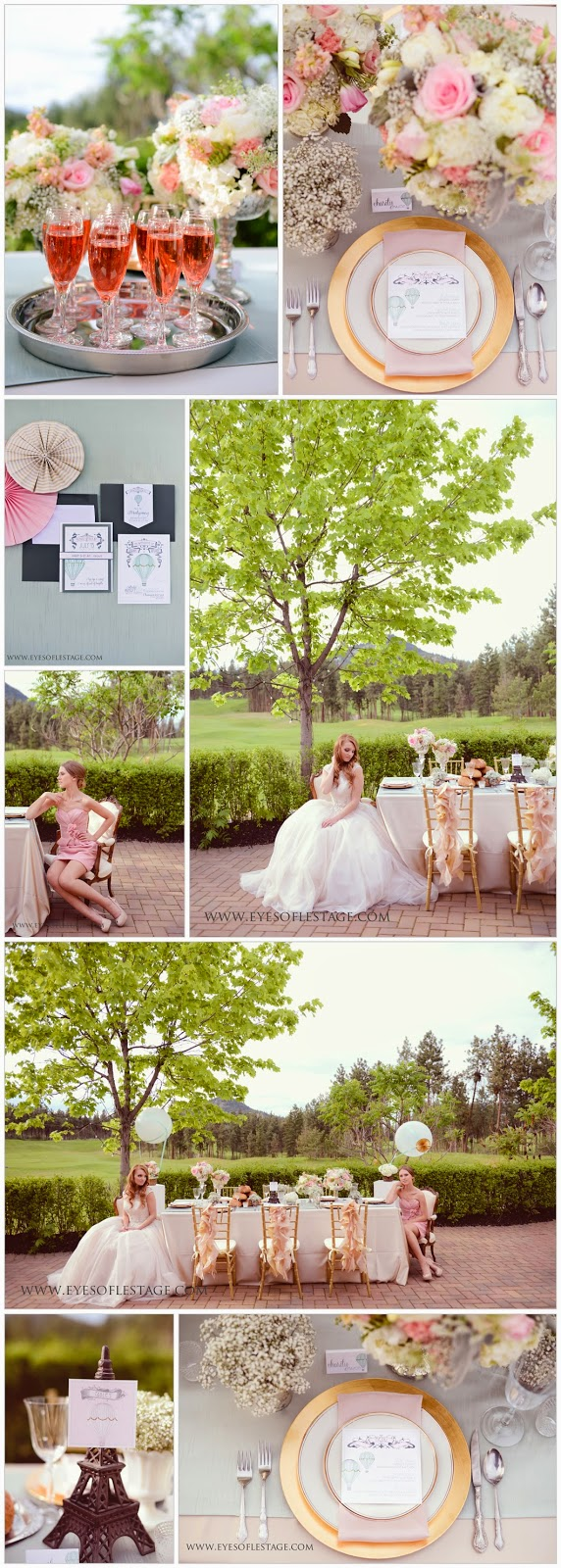 Enzoni, Allure, Parisian wedding, Eiffel Tower, Okanagan Golf Club, Dandelion Willows
