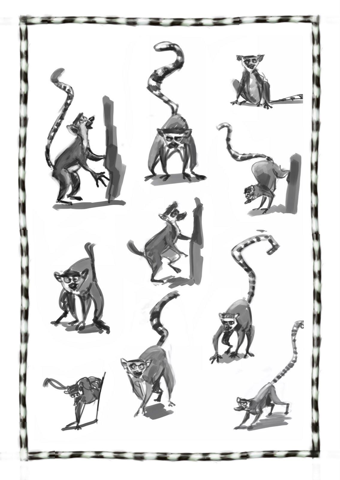 Barry O'Donoghue: Lemur sketches