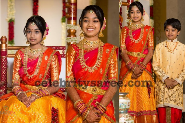 Maruthi Daughter Half Saree Ceremony