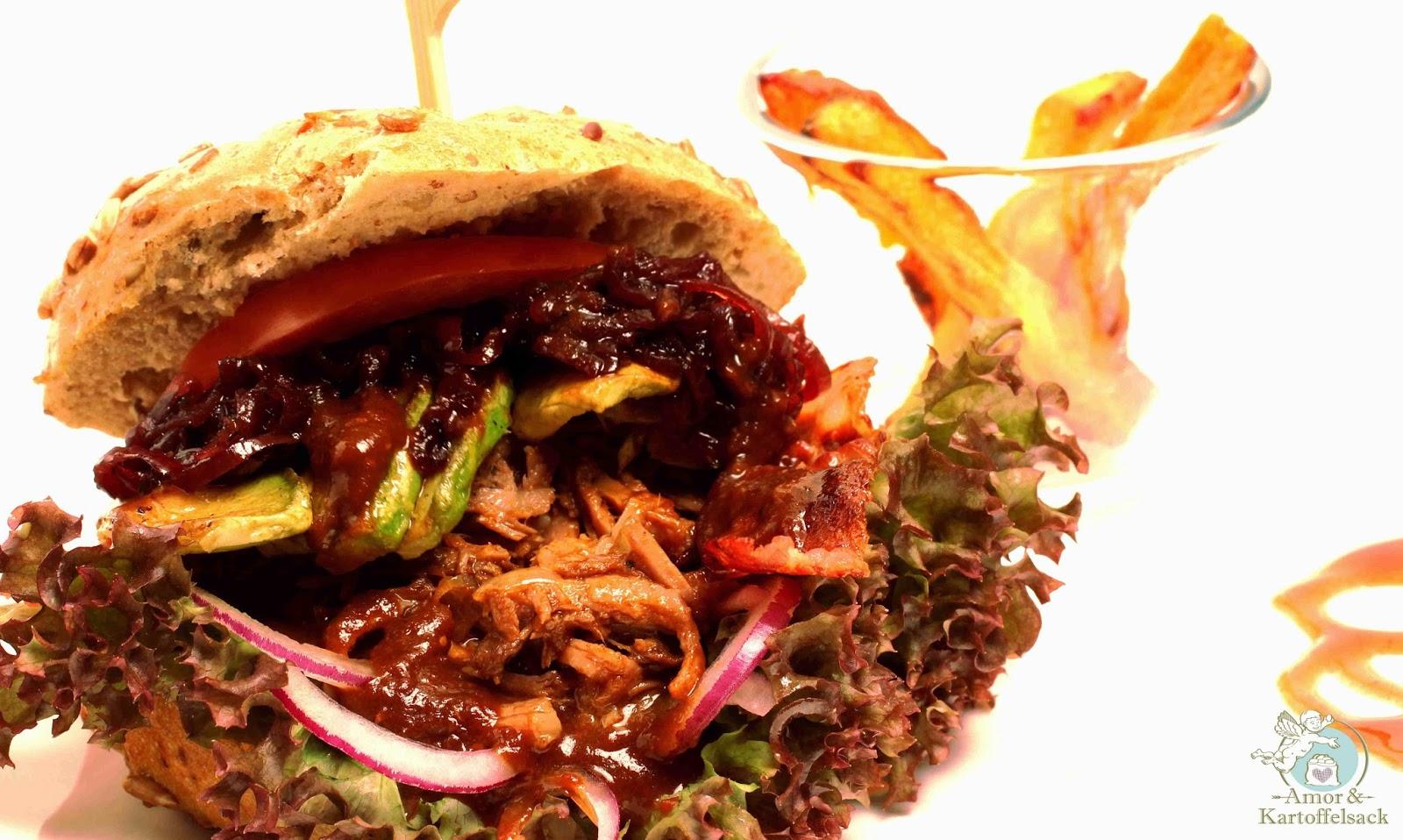 selfmade Burger mit Rindfleisch