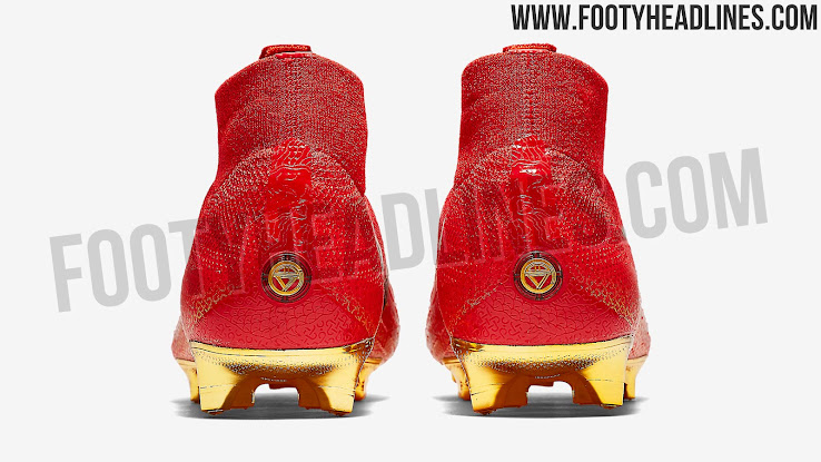 fa5cbaca3a0 The gold   red Nike Cristiano Ronaldo Mercurial Superfly 360 are an  China-exclusive release. They are already sold out.