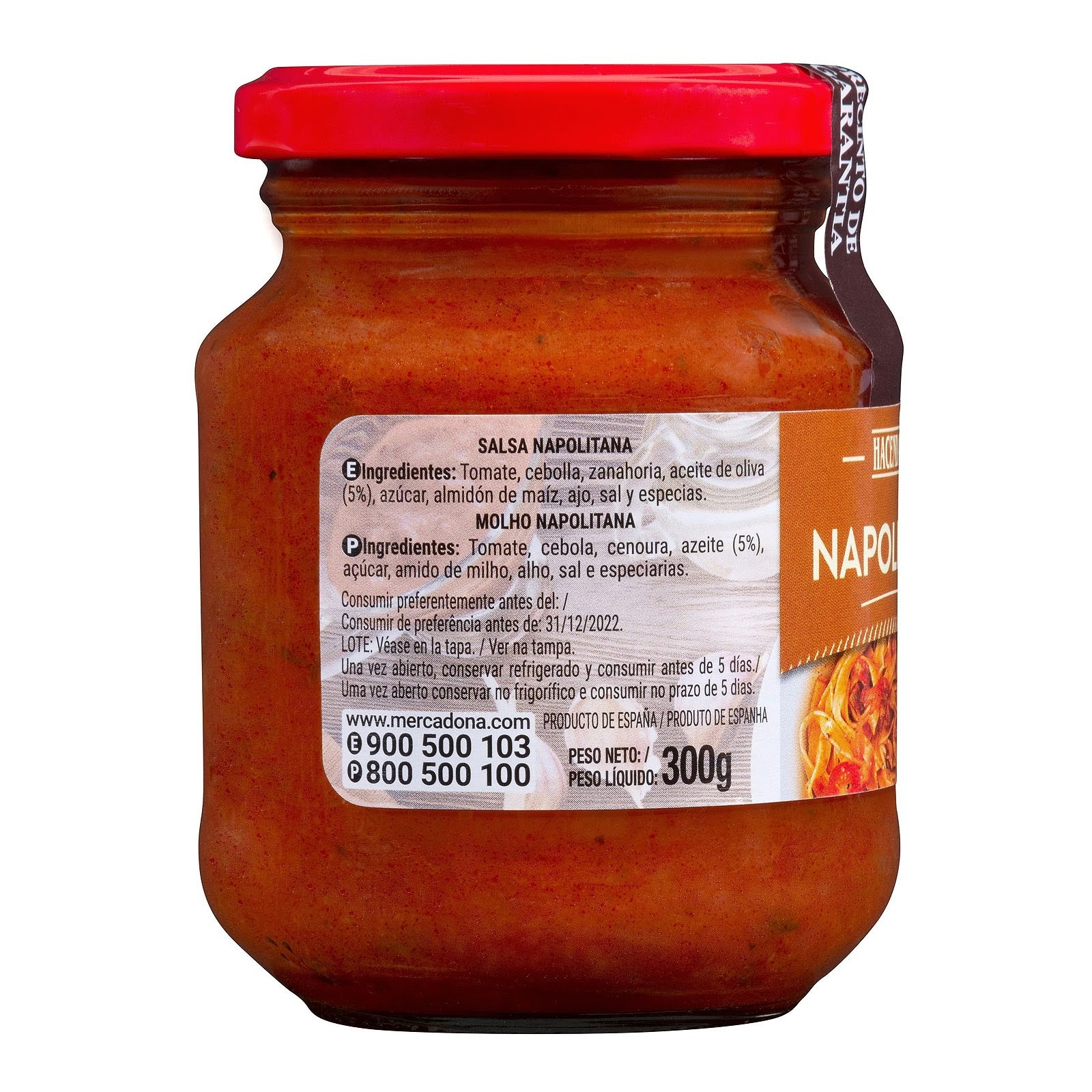 Salsa napolitana Hacendado