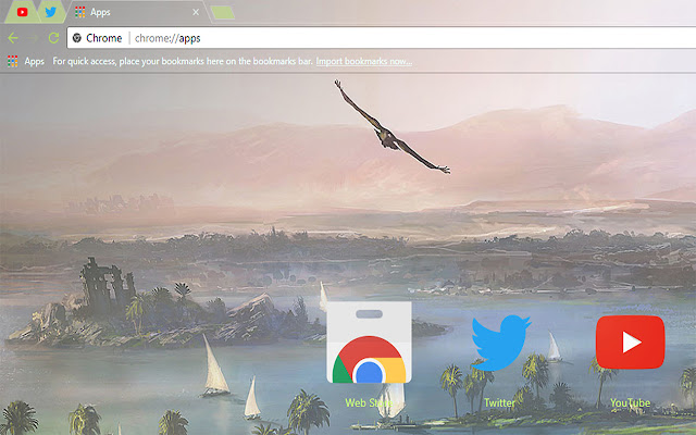 Assassins Creed Origins Egypt Free Theme FOR Chrome