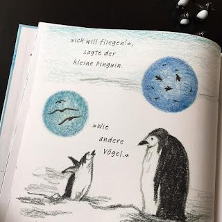 """""""Ich kann fliegen"""" von Fifi Kuo, Orell Füssli Verlag, Bilderbuch ab 3 Jahren, Pinguin"""