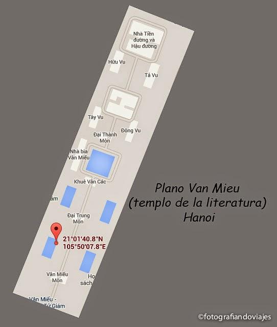 plano templo literatura hanoi vietnam