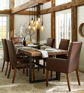 Pendelleuchten Esszimmer Elegante Braune Stühle
