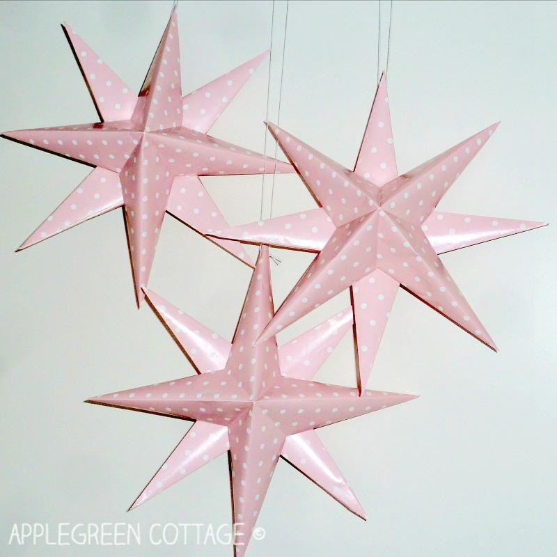 paper stars - easy DIY for Christmas or New Year