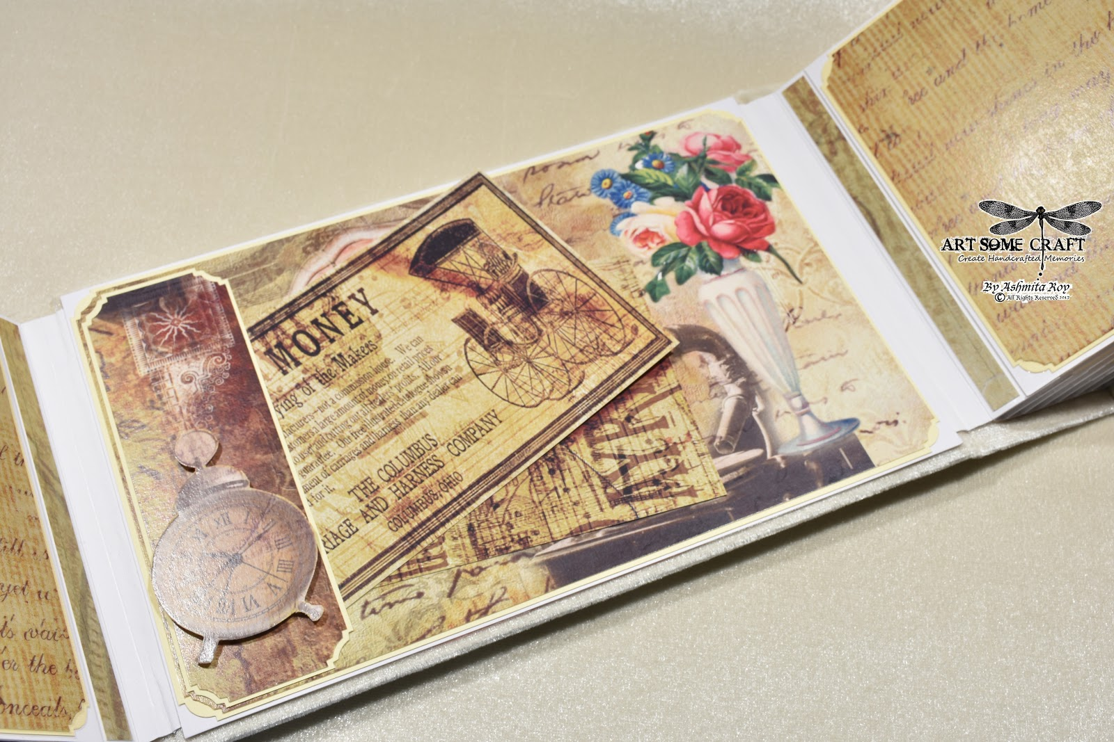 Art some craft: Gatefold Shabby chic Mother's Day Mini album