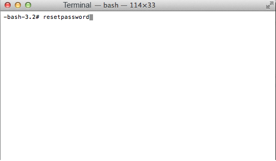 Reset Root or admin password on Mac OS X-Using Terminal