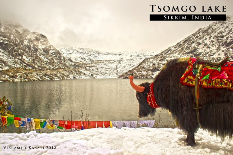 Tsomgo Lake, Sikkim (photo - Vikramjit Kakati)