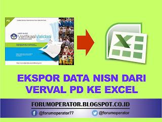 Tutorial ekspor data nisn verval pd kedalam MS. Excel