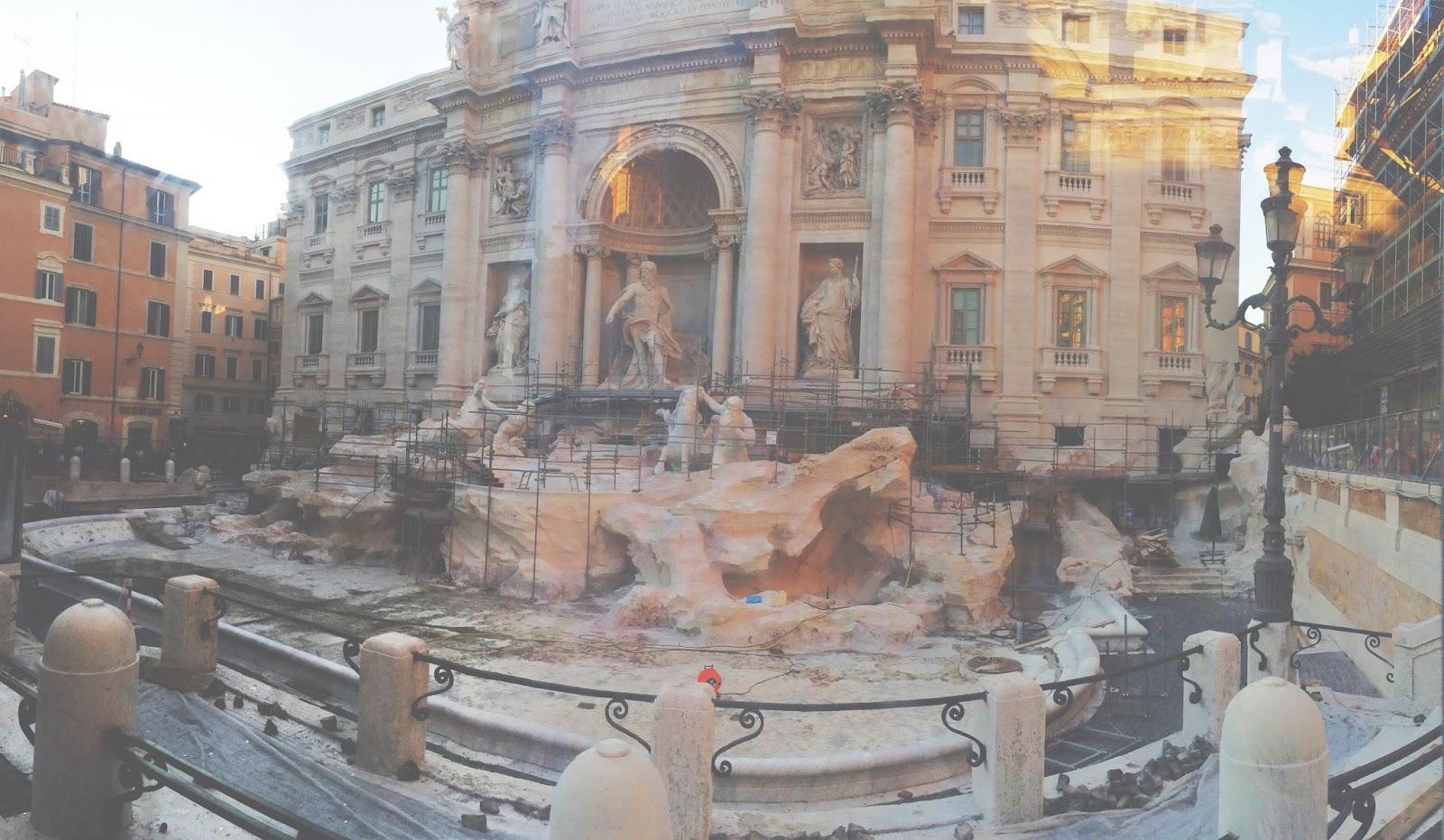 The Trevi Fountain in Rome