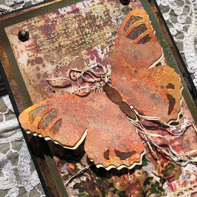 Tim Holtz Sizzix Tattered Butterfly Distress Oxide Sprays Alcohol Pearls Tutorial by Sara Emily Barker https://frillyandfunkie.blogspot.com/2019/03/saturday-showcase-tim-holtz-tattered.html 9