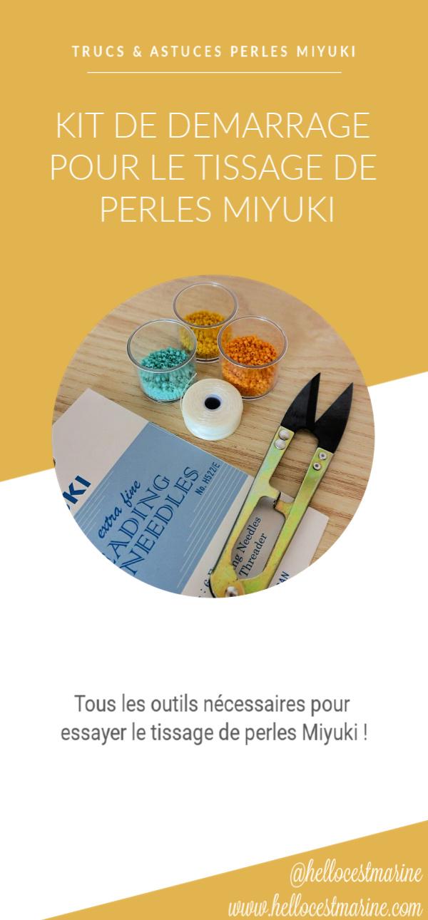 les essentiels pour demarrer dans le tissage de perles miyuki : perles, ciseaux de précision, aiguilles, fil, pinterest