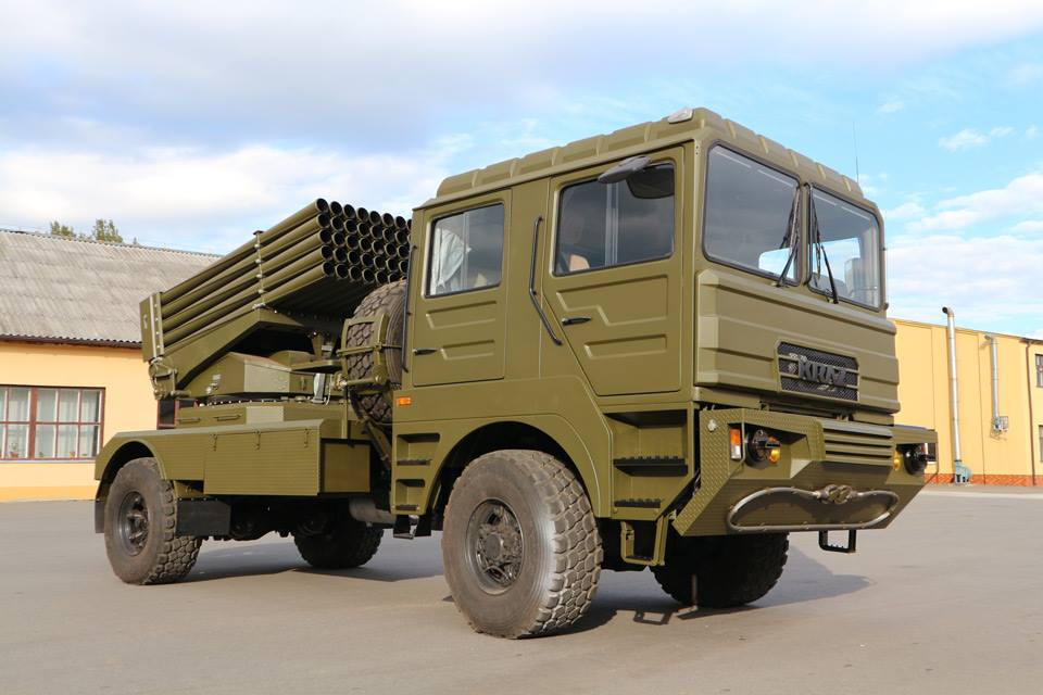 The BМ-21 UМ Berest Combat Vehicle Based on KrAZ Chassis