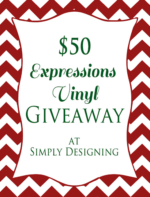 $50 Expressions Vinyl Giveaway @SimplyDesigning
