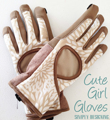 Cute Girl Garden Work Gloves, DIY Flower Tower, Home Depot #sponsored #digin #heartoutdoors #spring