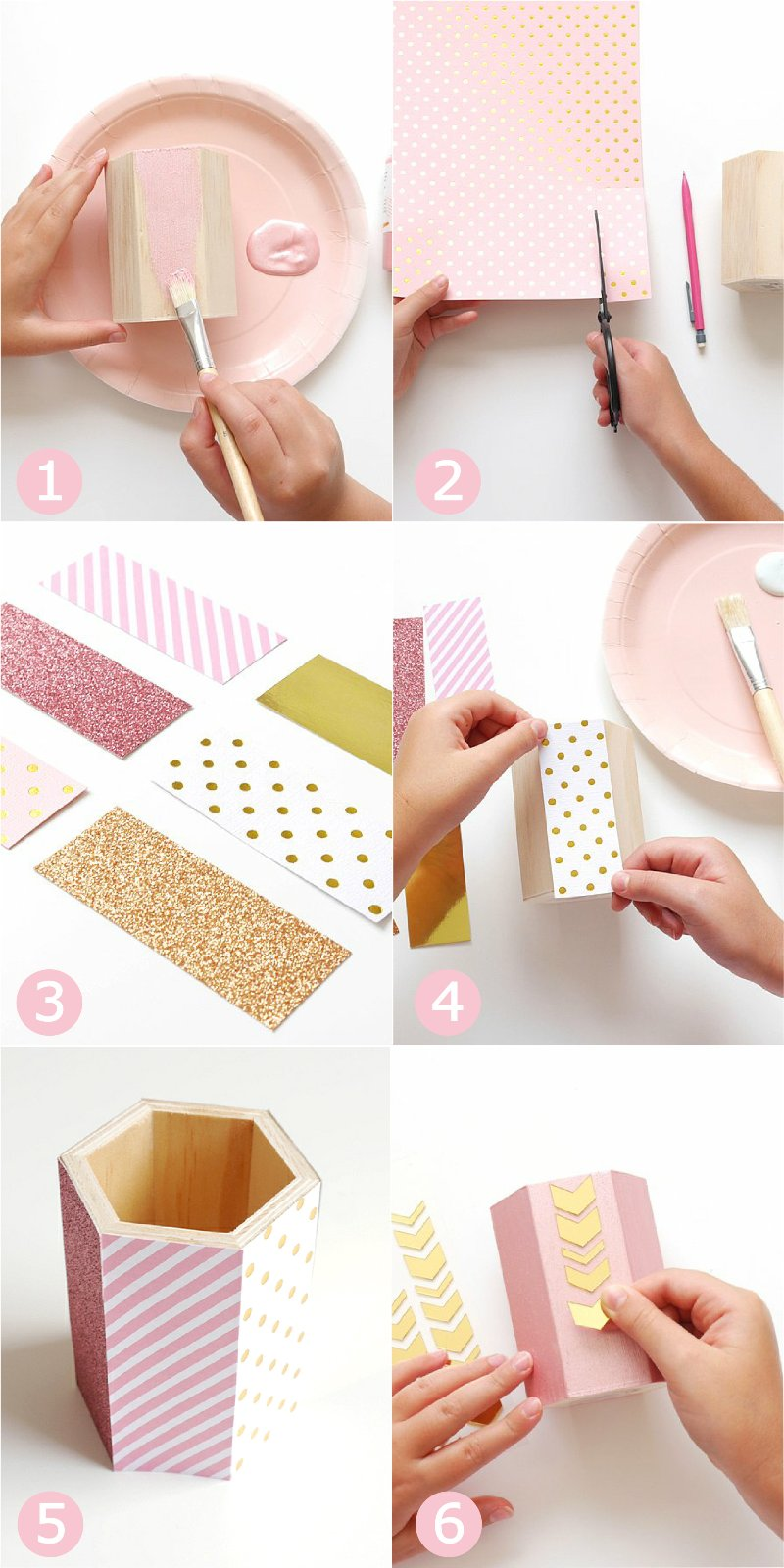 Gold Foil DIY Projects for Your Office Decor - easy ideas to help keep your office looking pretty and organized, a great back to school craft! by BirdsParty.com @birdsparty #officedecor #backtoschoolcrafts #backtoschoolprojects #diydecor #diyofficedecor #goldfoil #customofficesupplies