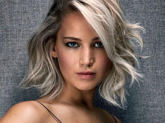 Jennifer Lawrence. Penteados e corte de cabelo curto da atriz.