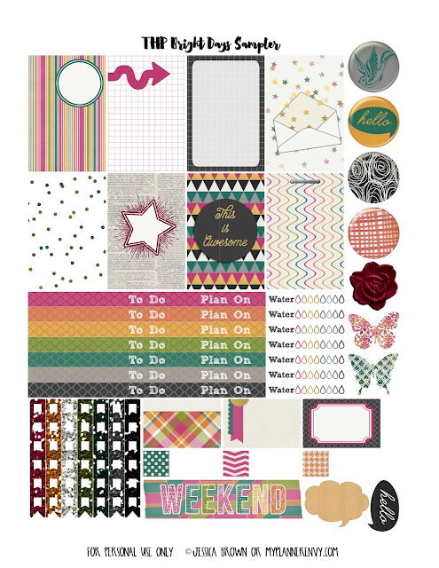 Free Printable Various Colors Sampler for The Happy Planner on myplannerenvy.com