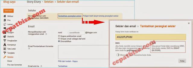Cara cepat bisa posting blog lewat HP,post blog pakai HP,