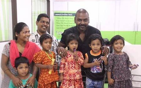 Raghava Lawrence adopts 4 Kids