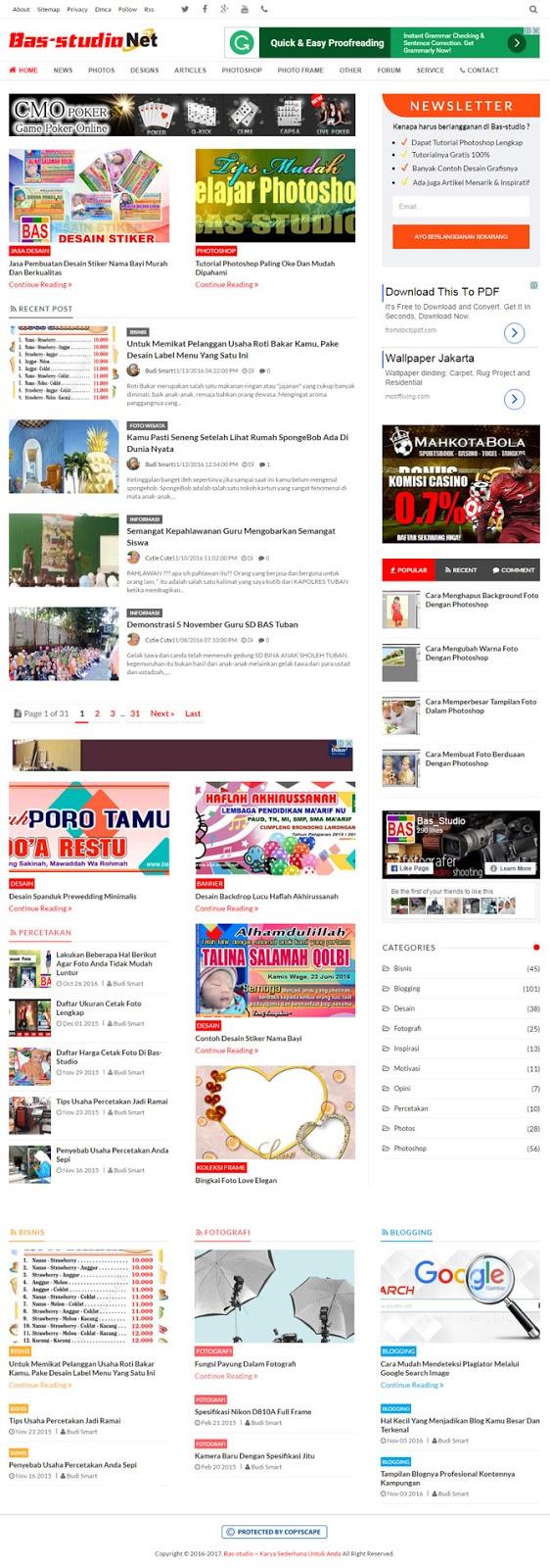 template blog keren seo friendly resposive 2016