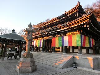 長谷寺の初日の出