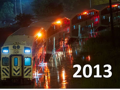GO Train flood 2013
