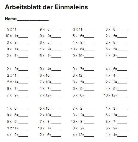 SCHÜLERCLUB Dornbirn: [ #mathematik ] Einmaleins - Arbeitsblätter ...
