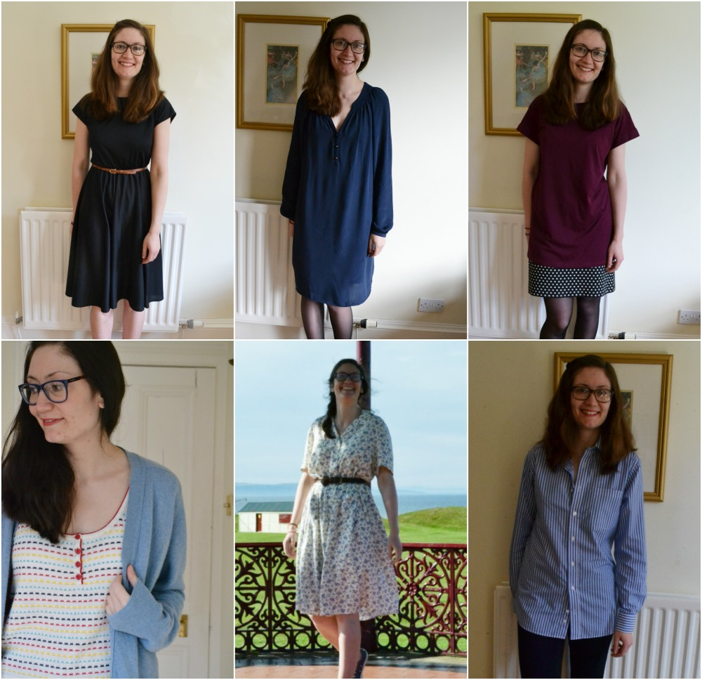 charity shop bargains march purchases dresses tshirt cardigan cashmere blue red florals