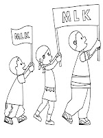 Martin Luther King Jr Parade Coloring Pages
