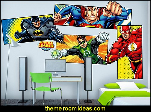 Justice League Super Hero Wall Decals