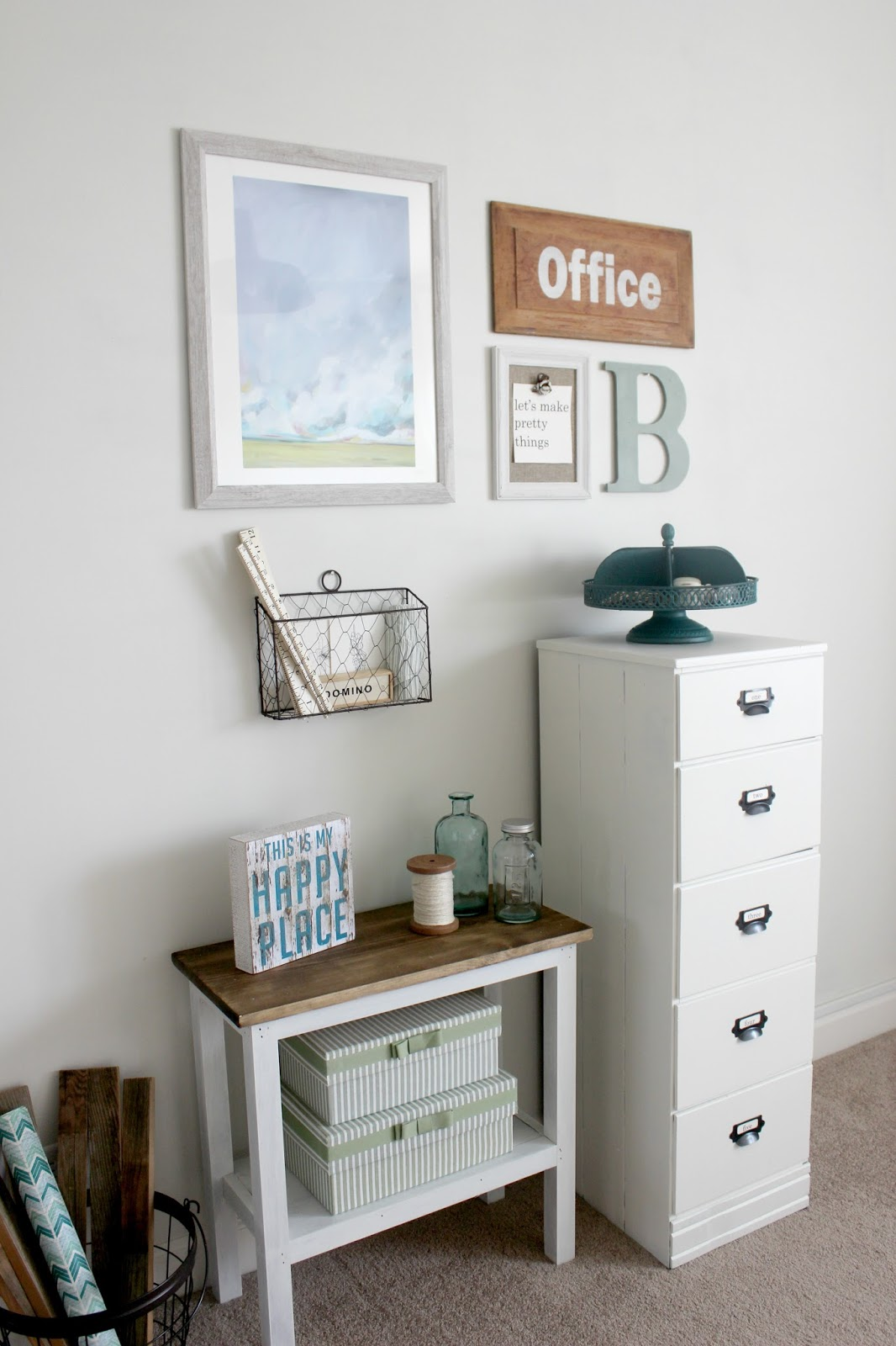 Diy Antique Wood Filing Cabinet Delightfully Noted