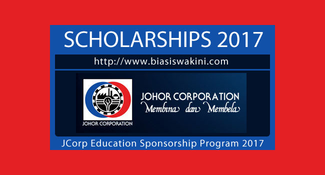 Biasiswa Johor Corporation 2017-Jcorp Education Sponsorship Program