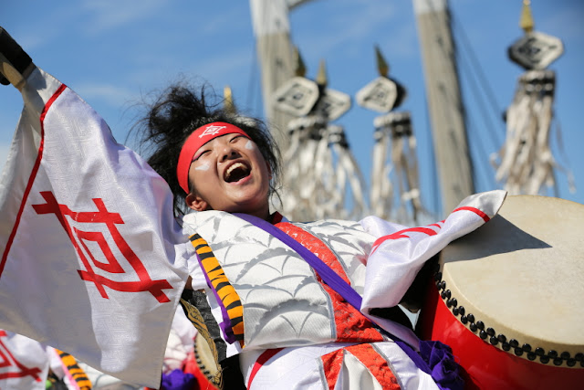 The Yosakoi; O-Edo Soran Matsuri (dance festival), Kiba Park, Tokyo