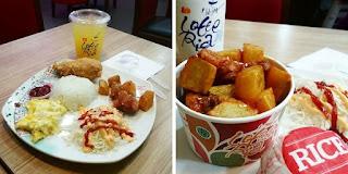 Chicken Special Combo dan Gangjong Lotteria