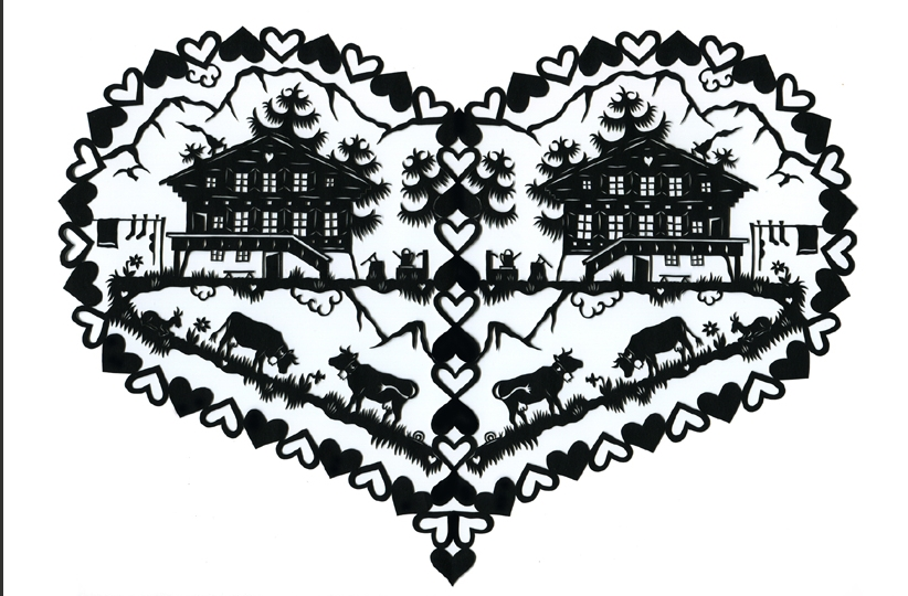 The Daily Happy Maker: Dreaming: Swiss paper cutting by