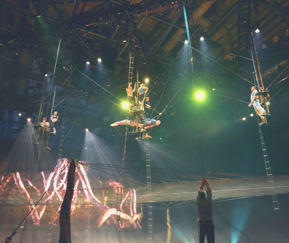 The performers in Cirque Du Soleil OVO rehearse before opening night