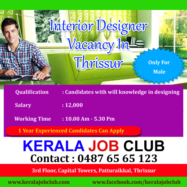 Interior Designer Vacancy In Thrissur