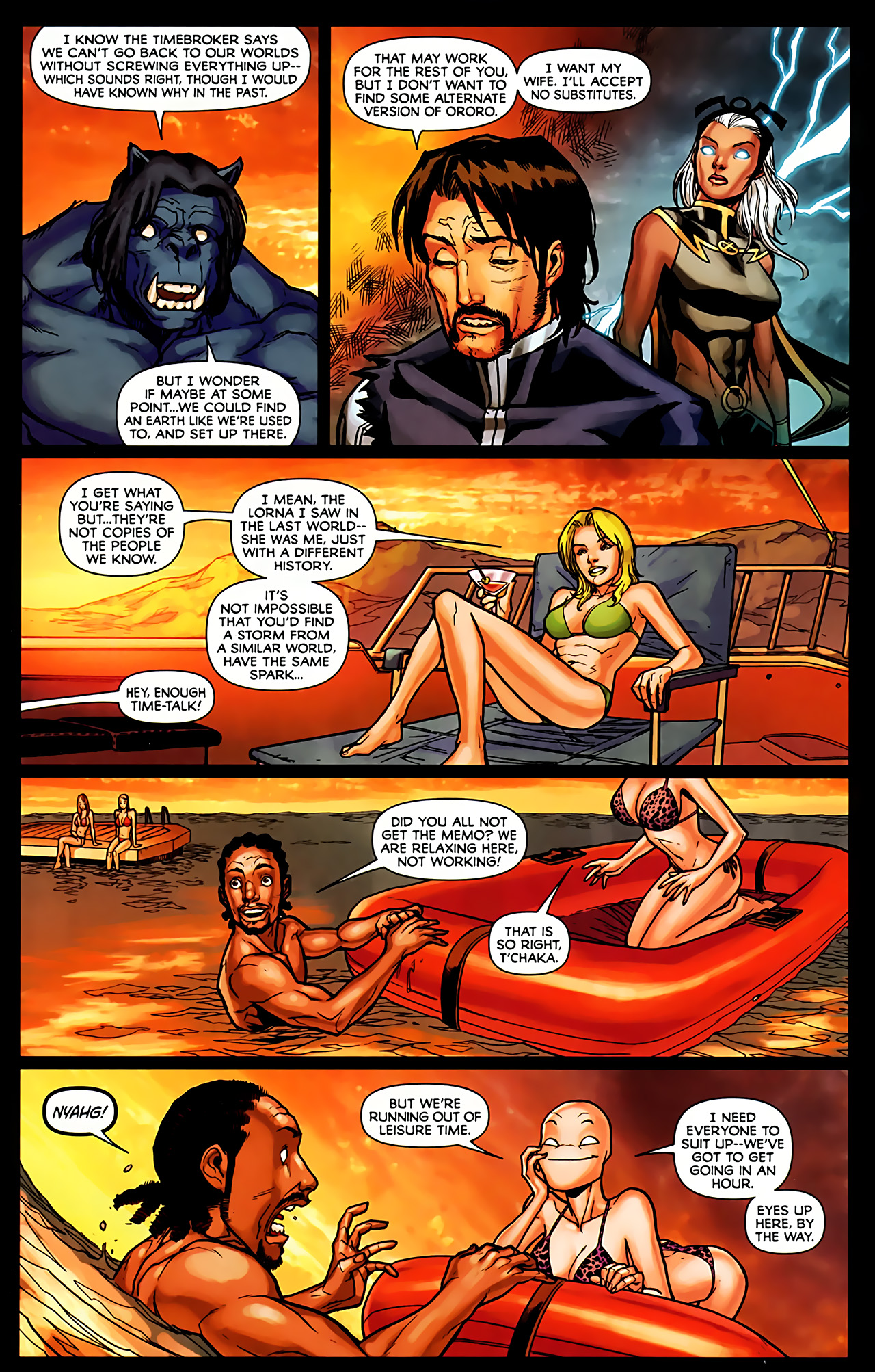 Read online Exiles (2009) comic -  Issue #6 - 17
