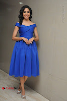 Actress Ritu Varma Pos in Blue Short Dress at Keshava Telugu Movie Audio Launch .COM 0071.jpg