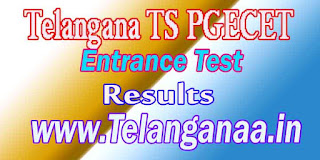 Telangana TS PGECET TSPGECET 2017 Results Download