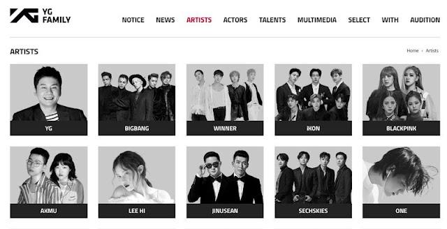 BI ha sido retirado del sitio web oficial de YG Entertainment