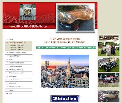 Frame do site do MP Lafer na Alemanha.