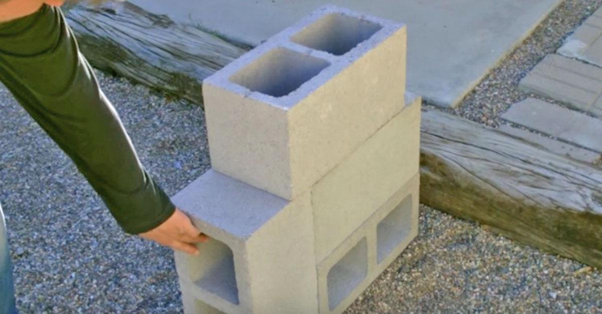 This cinder block rocket stove costs less than 6 handy diy for 4 block rocket stove