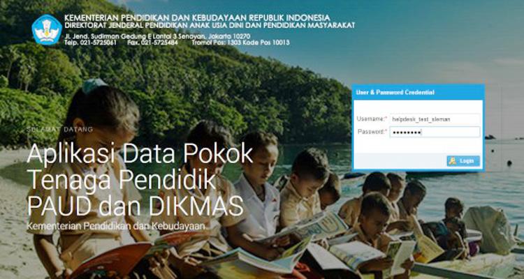 Buku Panduan (JUKNIS) Aplikasi Data Pokok Tenaga Pendidik PAUD dan DIKMAS Terbaru