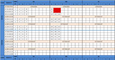 Aplikasi Penyusunan Jadwal Pelajaran Excel SD, SMP, SMA/ SMK