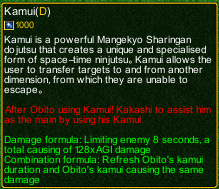 naruto castle defense 6.0 Kakashi Kamui detail