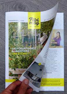 Article de presse sur Cartons Dudulle, Laura Dambre, dans Albi Mag novembre 2016